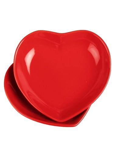 2 Li Şeker Peker Kalp Yemek Tabağı-Joy Glass